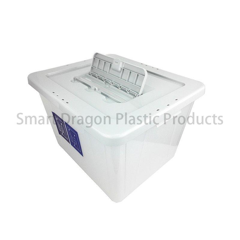 Large 40l Plastic Ballot Box with Colored Lid for Election Vote
