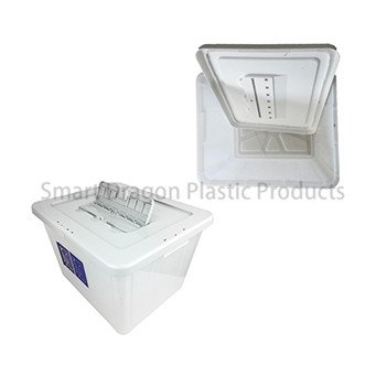 Large 40l Plastic Ballot Box with Colored Lid for Election Vote-3