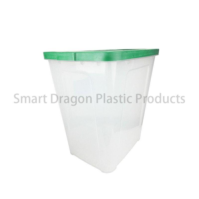 Transparent Plastic Ballot Box with Lid for Election Voting