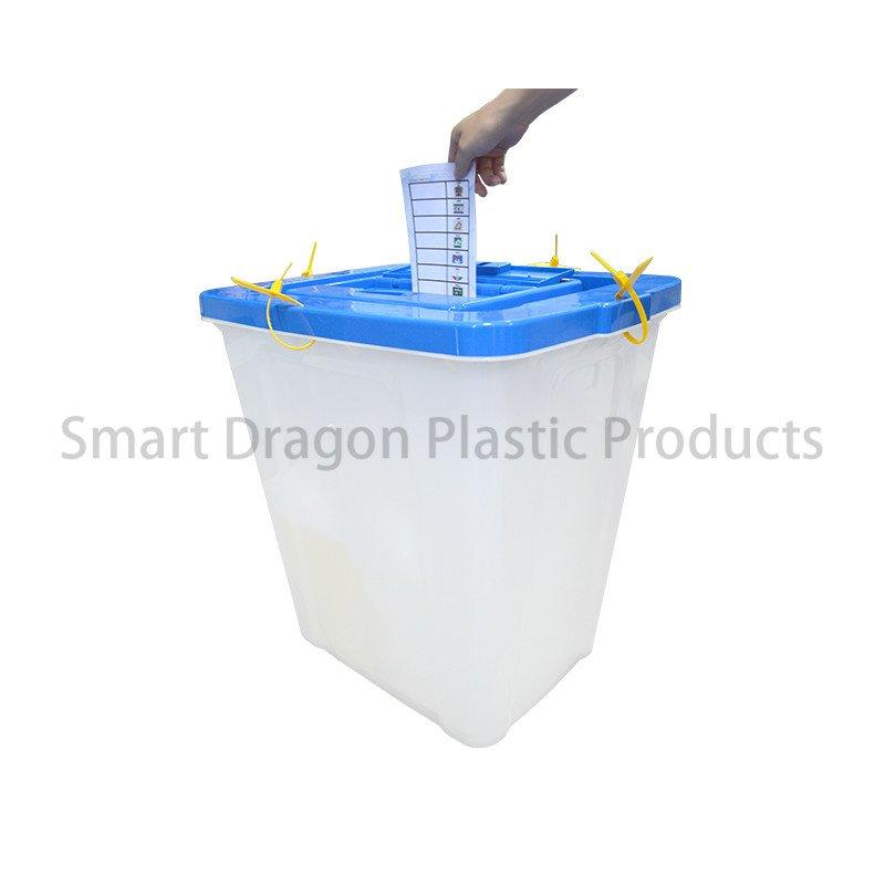 Transparent 86l Plastic Ballot Box with Seals Security Tags Sign Holder