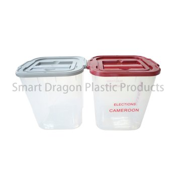 Clear 40-60l Plastic Ballot Election Voting Boxes-4