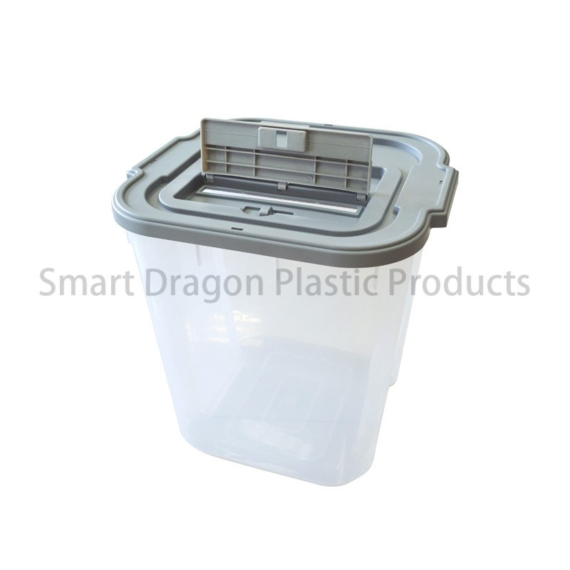 SMART DRAGON Clear Plastic Voting Ballot Box with Security Seal & Cover Plastic Ballot Box image141