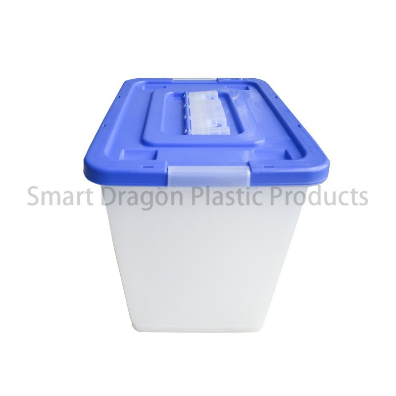 SMART DRAGON Simple 65l Small Plastic Suggestion Transparent Floor Standing Ballot Box with Cover Plastic Ballot Box image138