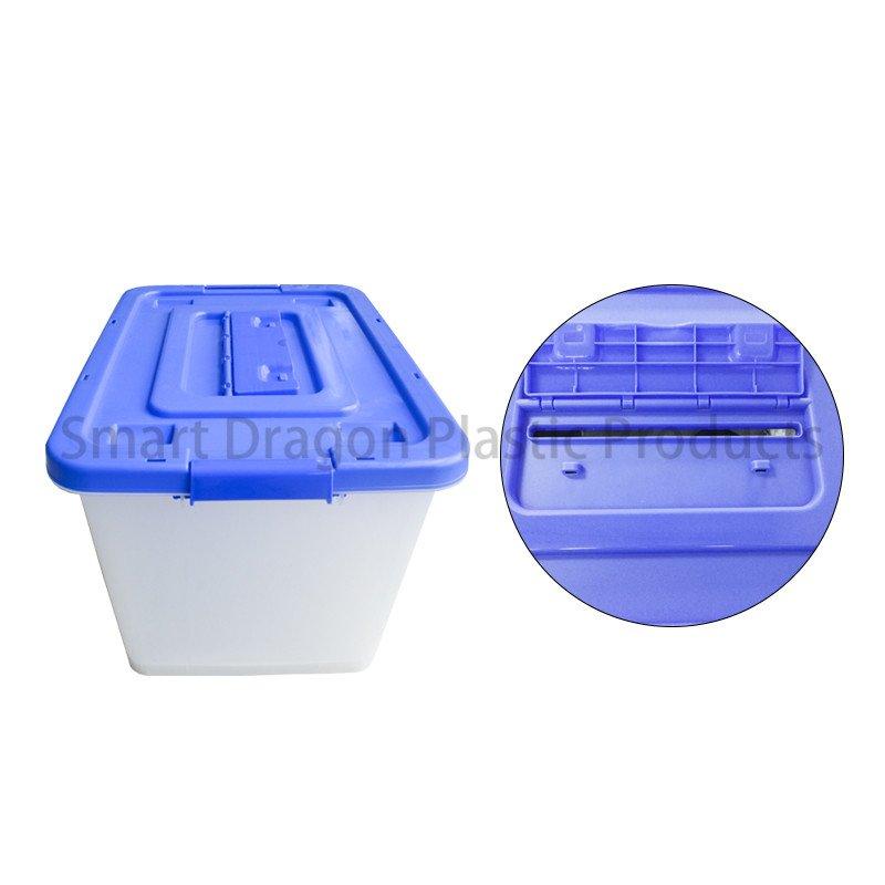 SMART DRAGON Large Transparent Multi-Function Hard Plastics Ballot Voting Boxes Plastic Ballot Box image136
