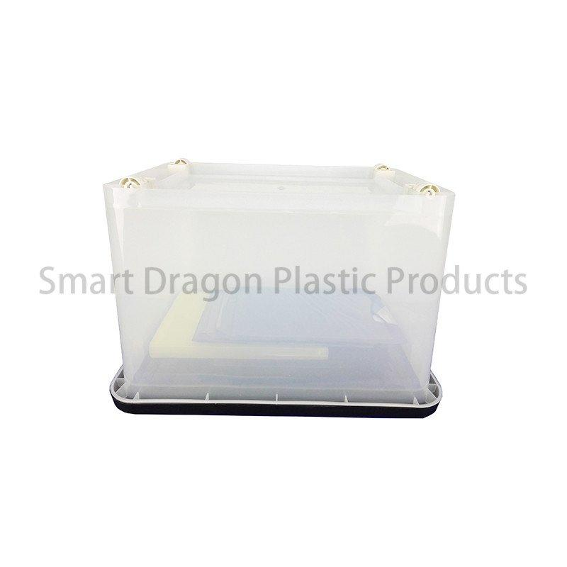 Multipurpose 100% Transparent Polypropylene 60L Plastic Storage Box With Wheels