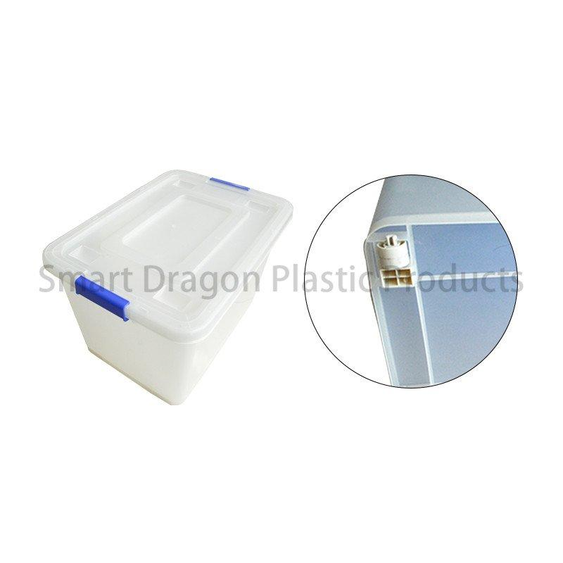 Customized 65 Liter Large Semi Transparent PP Storage Boxes & Bins