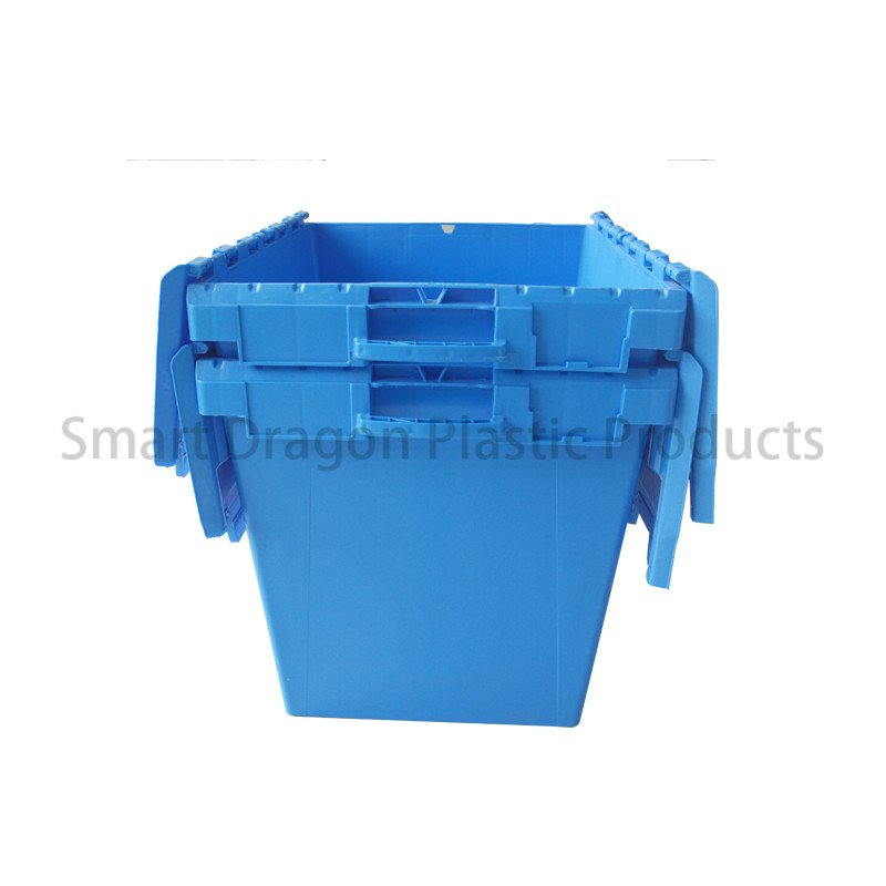 SMART DRAGON Customized 190l Large Turnover Folding Crate Logistic Box for Supermarket Plastic Turnover Boxes image131