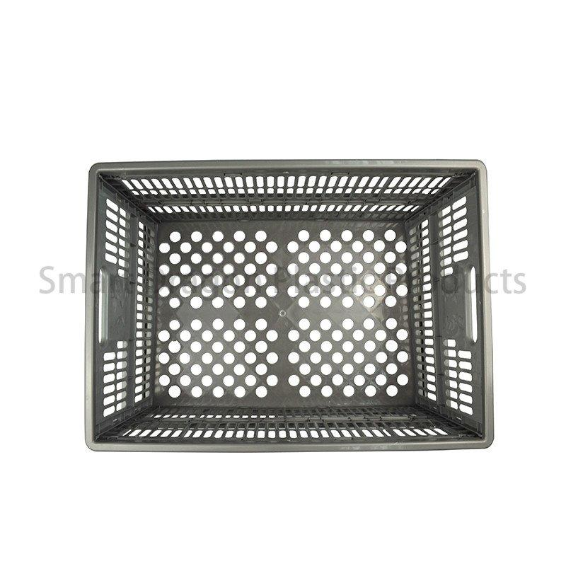 Collapsible PP Material Plastic Storage Box Perforated Ventilate Folding Basket