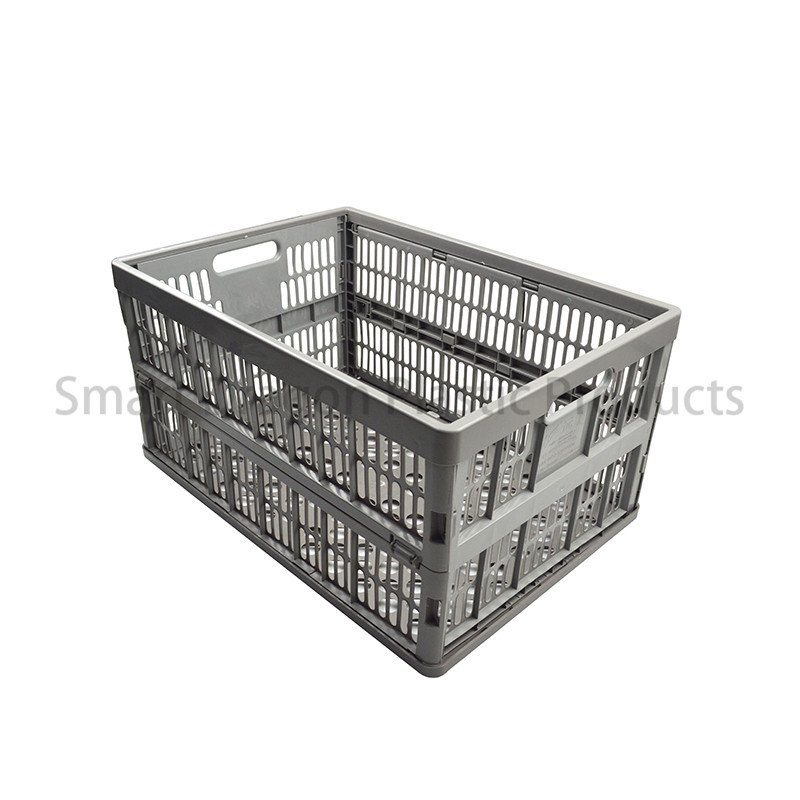 SMART DRAGON-Collapsible PP Material Plastic Storage Box Perforated Ventilate Folding Basket