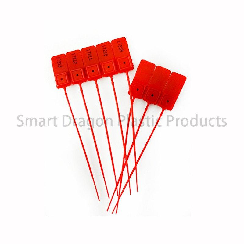 Standard Red Pull Tight Plastic Seal 180mm With Number