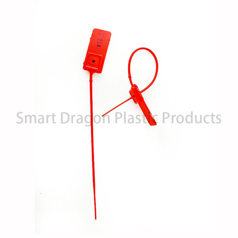 SMART DRAGON Standard Red Pull Tight Plastic Seal 180mm With Number Plastic Security Seal image122