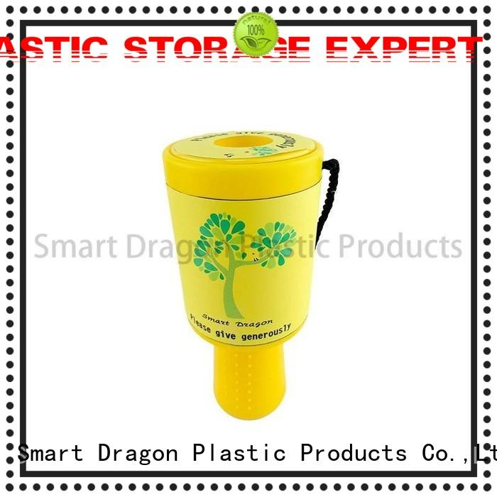 SMART DRAGON Brand rounded yellow charity box handheld factory