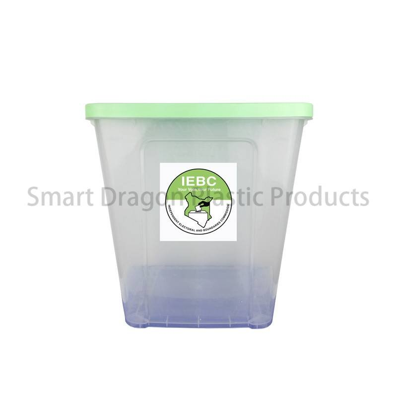 SMART DRAGON Transparent Plastic Ballot Box with Lid for Election Voting Plastic Ballot Box image145