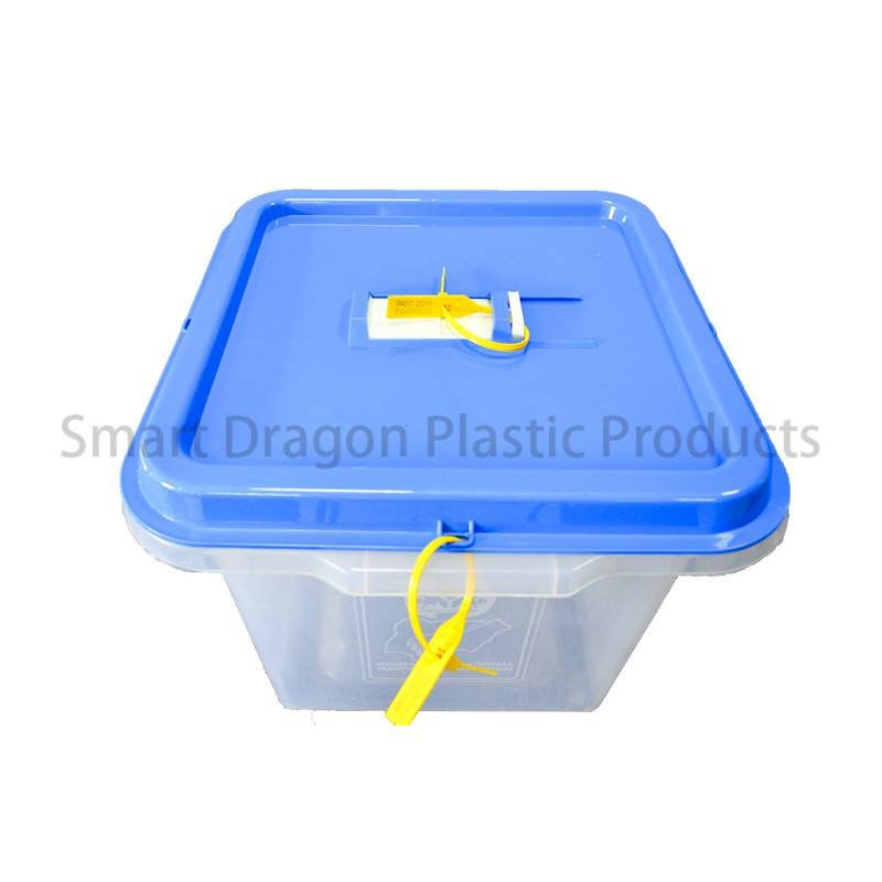 SMART DRAGON Clear Plastic Disposable Election Ballot  Box with Blue Cover Plastic Ballot Box image140