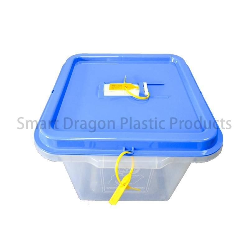 Clear Plastic Disposable Election Ballot  Box with Blue Cover