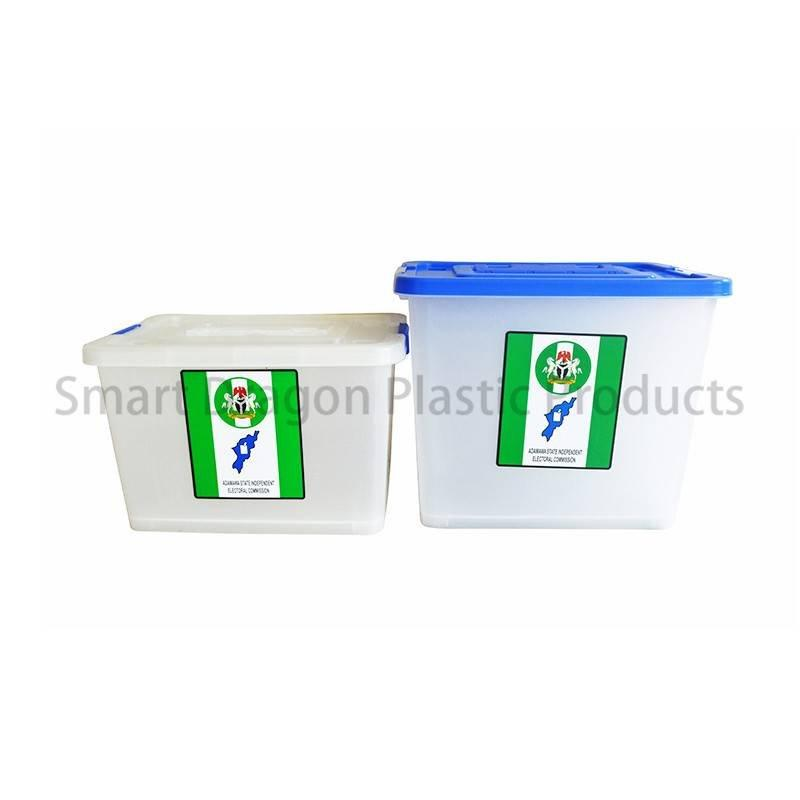 Simple 65l Small Plastic Suggestion Transparent Floor Standing Ballot Box with Cover