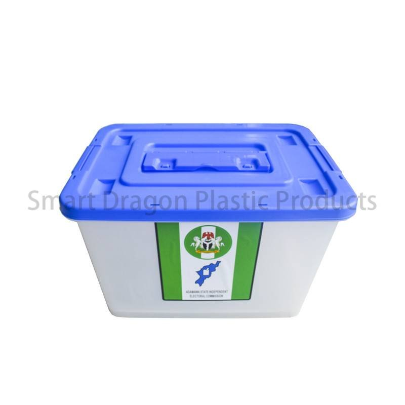 SMART DRAGON Large Transparent Multi-Function Hard Plastics Ballot Voting Boxes Plastic Ballot Box image19
