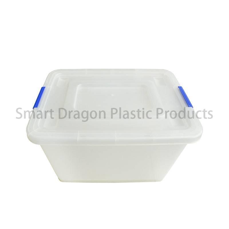 Customized 65 Liter Large Semi Transparent PP Storage Boxes & Bins