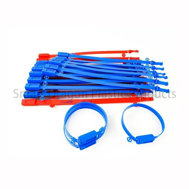 Custom Adjustable Length Plastic Seals Tear Off by Hand Tamper Proof Plastic Seal