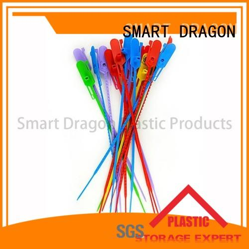 red 430mm selflocking plastic bag security seal SMART DRAGON