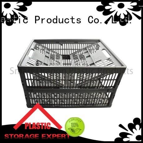 folding plastic storage baskets perforated SMART DRAGON