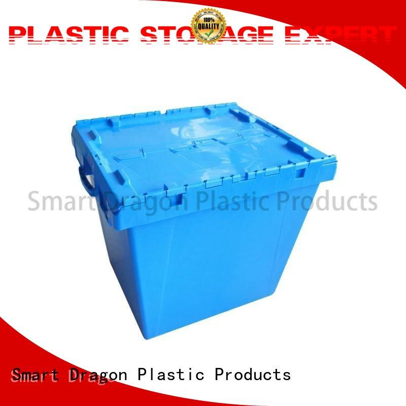 folding dislocation easy stack SMART DRAGON Brand plastic turnover boxes supplier