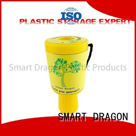 SMART DRAGON donation Plastic Charity Boxes cheapest factory price for wholesale