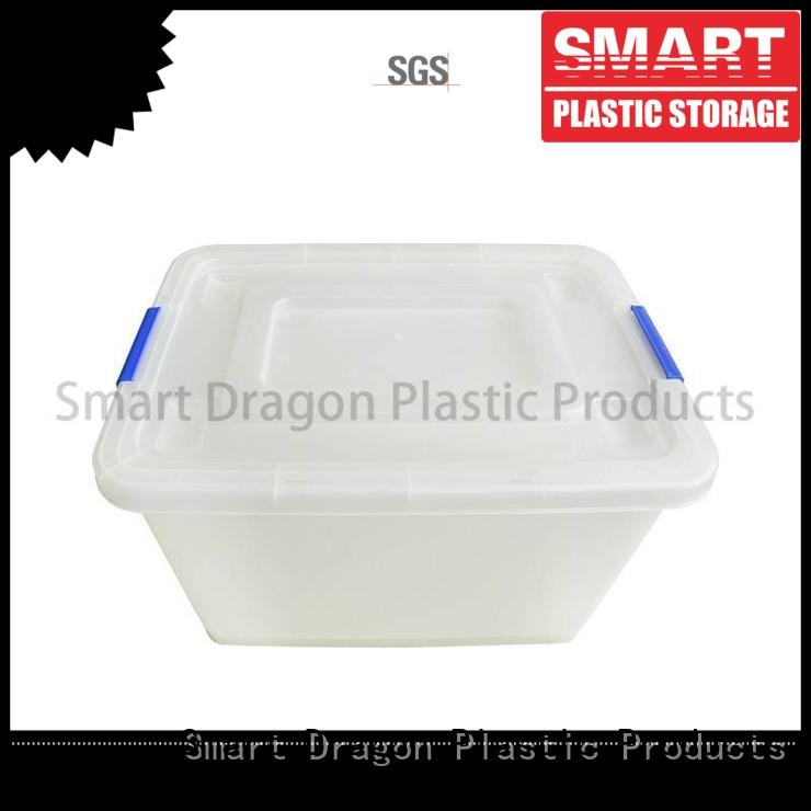 storage transparent 65 customized SMART DRAGON Brand plastic storage boxes supplier