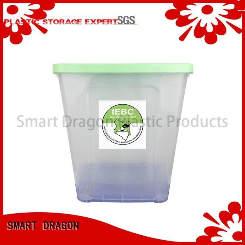 SMART DRAGON Brand floor voting transparent plastic products 38l