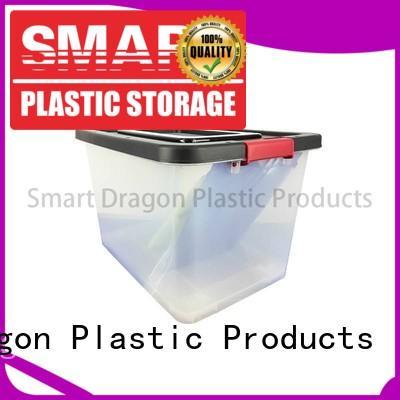 Multipurpose 100% Transparent Polypropylene 60L Plastic Storage Box With Wheels