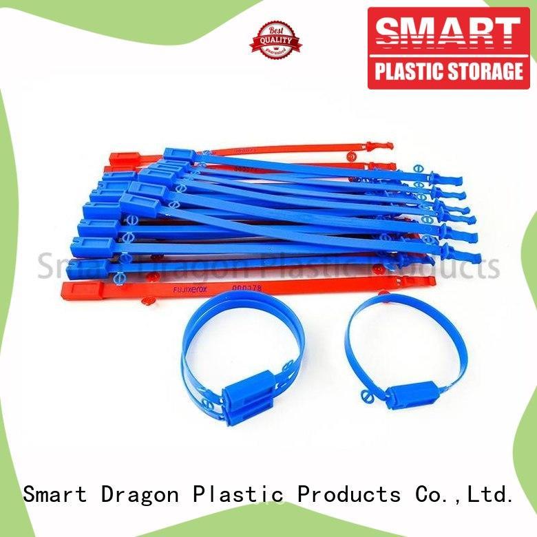 Custom Adjustable Length Plastic Seals Tear Off by Hand Tamper Proof Plastic Seal