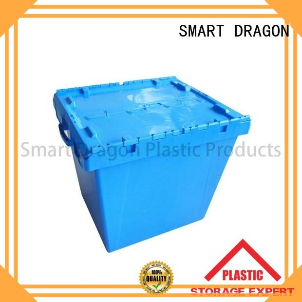 nesting turnover crate with lid hand-moving for forwarder SMART DRAGON