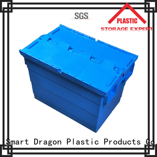 SMART DRAGON Brand pp plastic plastic turnover boxes stack factory