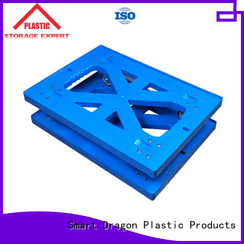 SMART DRAGON Brand wheeled moving pallet plastic trolley
