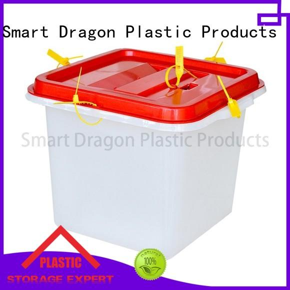 SMART DRAGON clear 40l ballot box brands for election