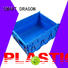 Blue Stackable Nesting Plastic Turnover Boxes Crates With Lid