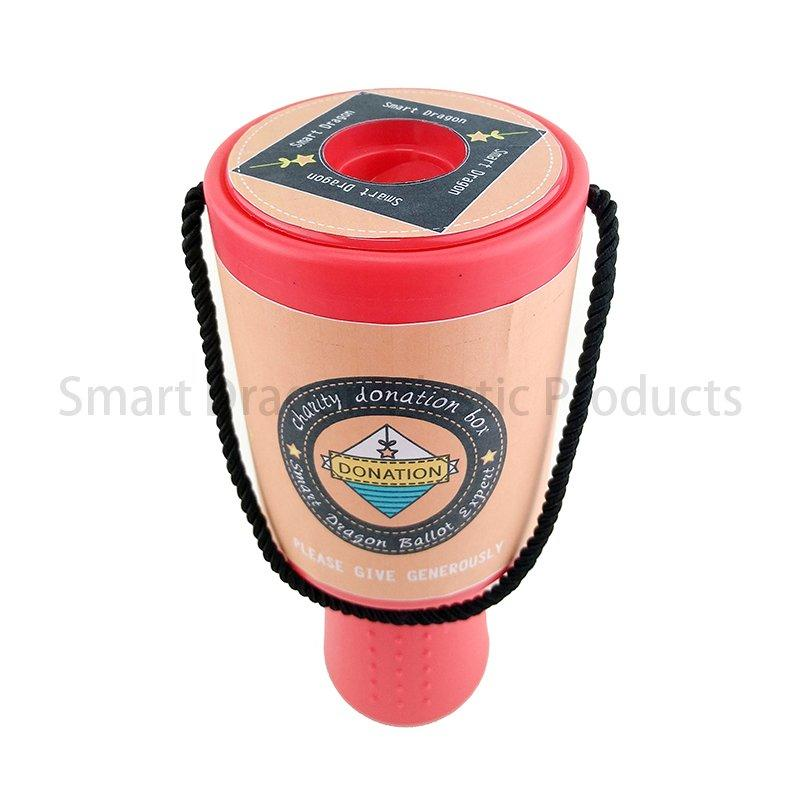 Plastic Charity Box Hand Held Plastic Collection Box Charity Box Logo Custom Made