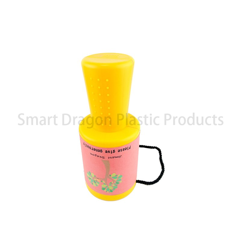 SMART DRAGON Yellow Rounded Hand Held Plastic Collection Charity Box Plastic Charity Boxes image113