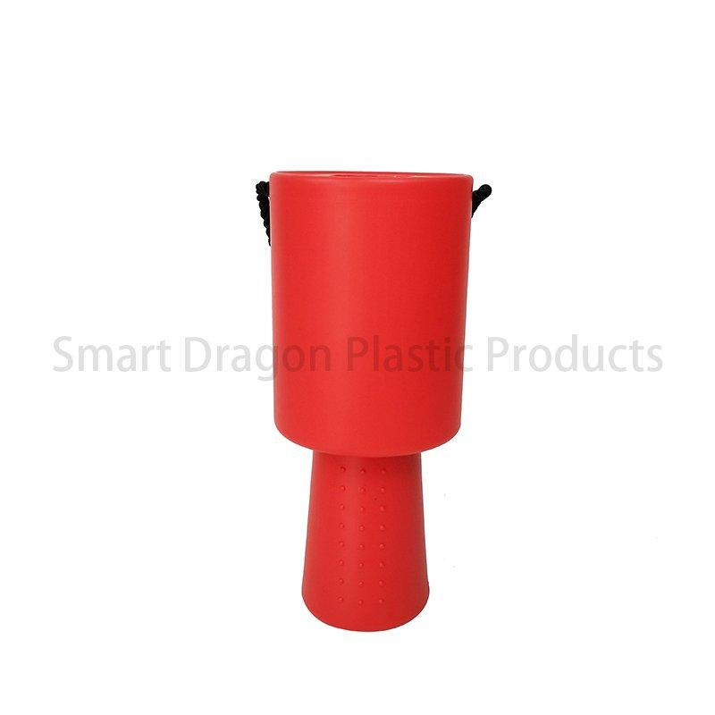 Red Rounded Plastic Collection Charity Box Money Box with Hand Held