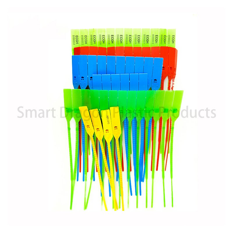 SMART DRAGON Plastic Pull Tight Security Seals with Serial Numbers and Company Logo Plastic Security Seal image106