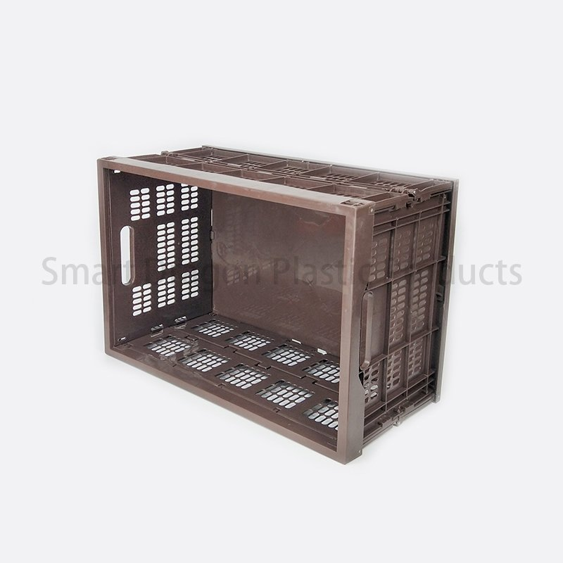 SMART DRAGON PP Material Mesh Wall Folding Storage Basket for the Shipment Plastic Folding Boxes image101