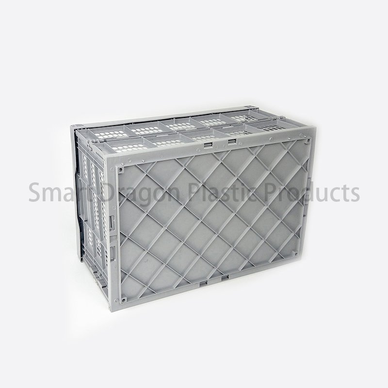 SMART DRAGON Food Grade Plastic Turnover Box Folding Basket Boxes Plastic Folding Boxes image100