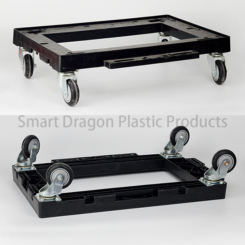 SMART DRAGON High Quality Plastic Dollies Moving Pallet Dolly With Wheels Plastic Trolleys image99