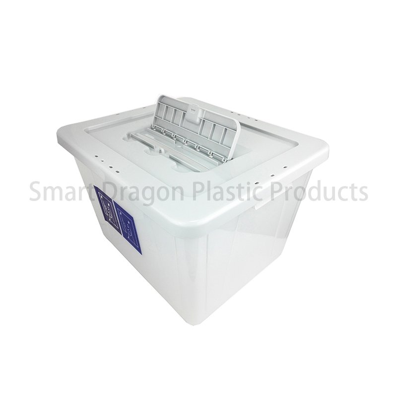 SMART DRAGON PP Clear Plastic Voting Ballot Box For Election Plastic Ballot Box image97