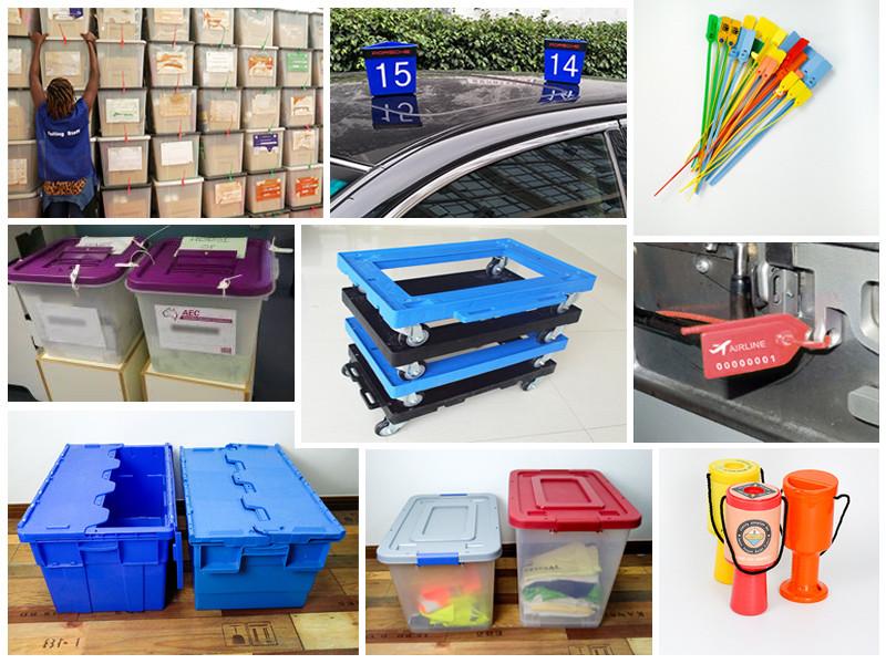 SMART DRAGON printed plastic container seals padlock for ballot box-6