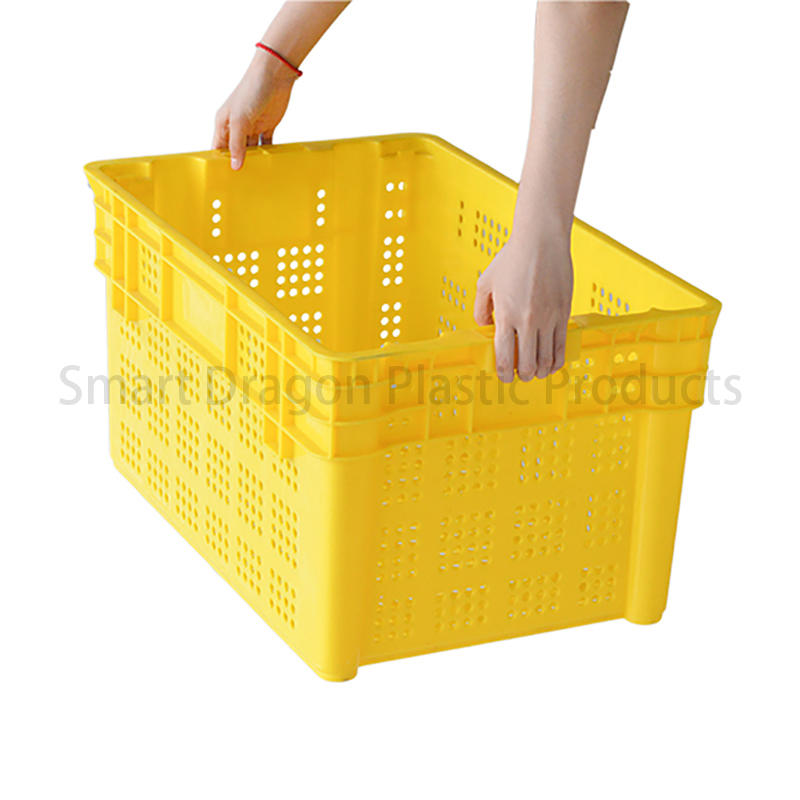 turnover crate easy stack large SMART DRAGON Brand plastic turnover boxes