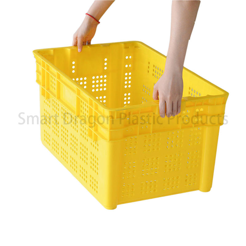 SMART DRAGON turnover turnover crate with lid free sample for supermarket