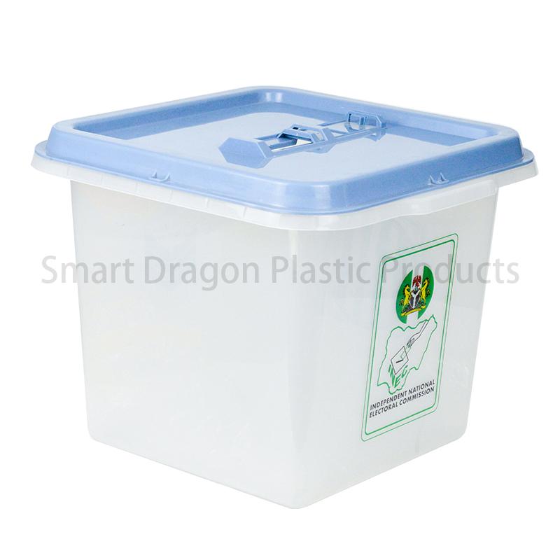 SMART DRAGON 45L-55L Clear Plastic Ballot Box For Election Plastic Ballot Box image3