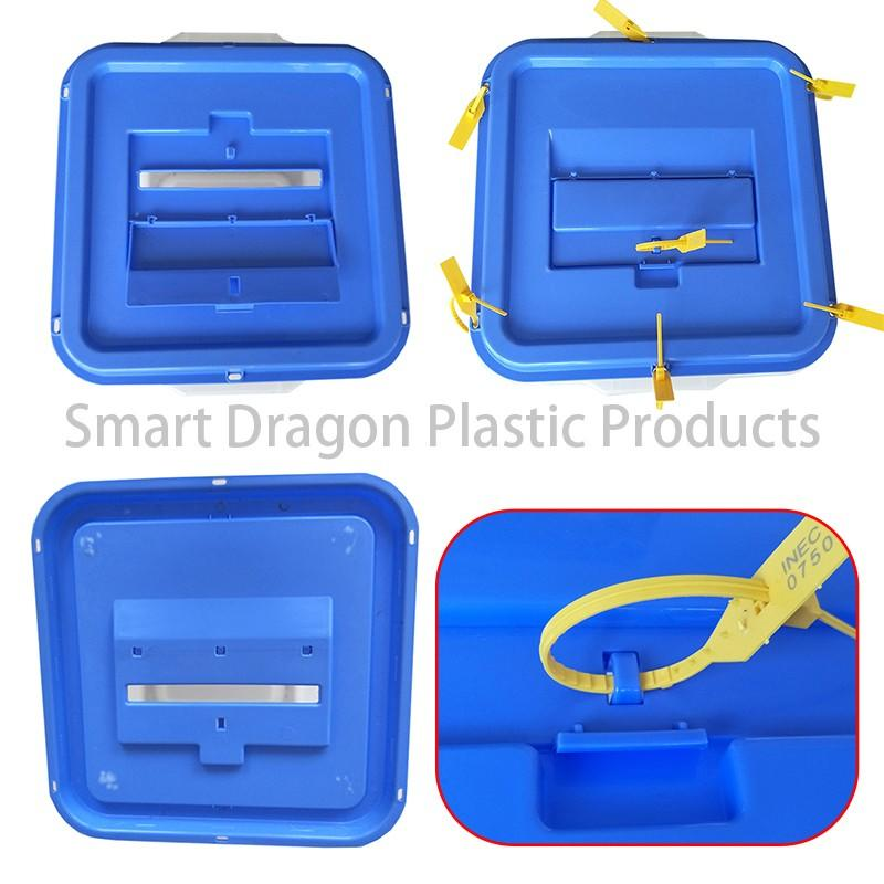 standing pp wheel SMART DRAGON Brand ballot box company manufacture