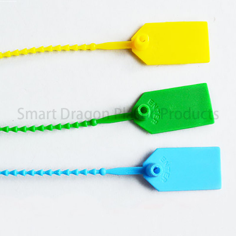 SMART DRAGON Green Plastic Security Seal Total Length 230mm Plastic Security Seal image1